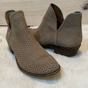 LUCKY BRAND Bashina Ankle Boots Taupe Booties